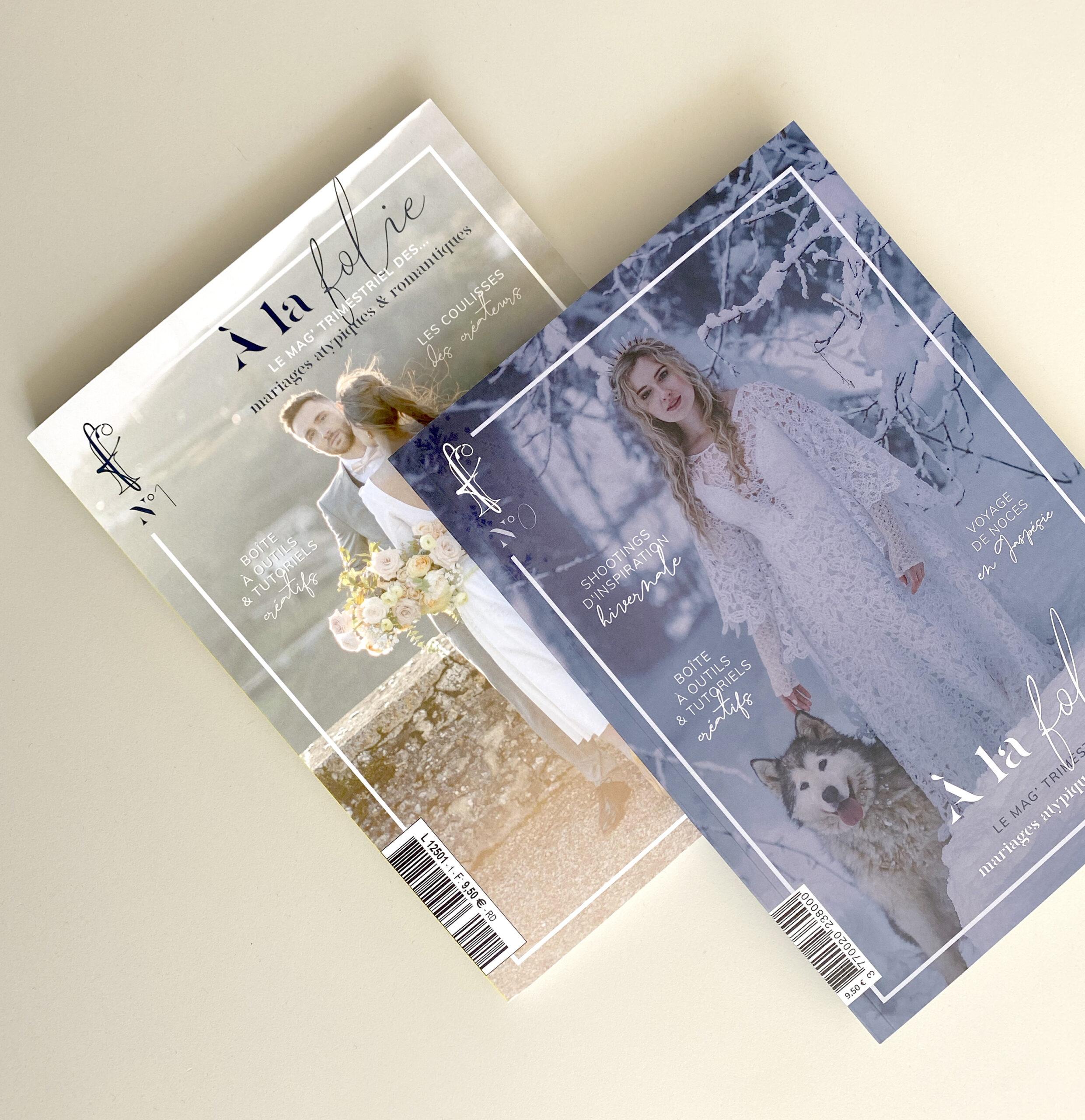 Pile de magazine A la folie le mag, numéro 0