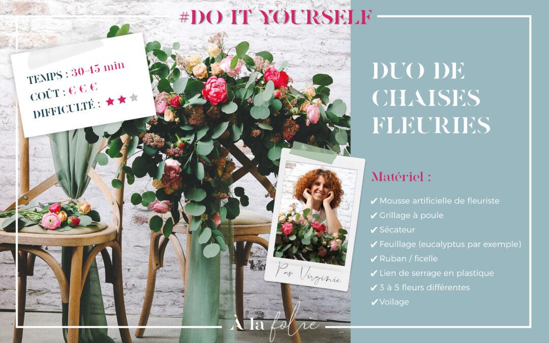 DIY : Duo de chaises fleuries